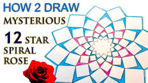 How 2 Draw Mandala The 12 Star Spiral Rose Sacred Geometry Tutorial