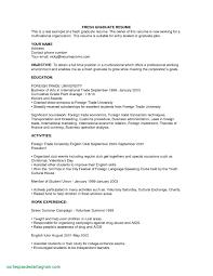 Recent Graduate Resume Sample Recent College Graduate Resume Example