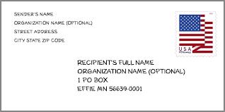 City: EFFIE, MN | Minnesota United States ZIP Code 5 Plus 4 ✉️