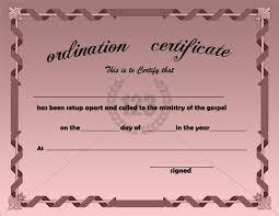Ordination Certificate Template Best Ordination Certificate Templates Free Download