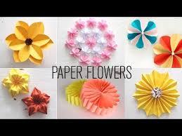 Paper Flower Video Videos Matching 6 Easy Paper Flowers Flower Making Diy