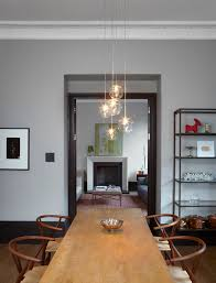 glass pendant lights dining room modern with ball lights bookshelf crown