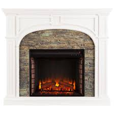 southern enterprises tanaya stacked stone fireplace white
