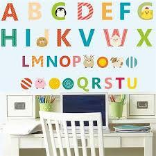 a z alphabet letters words wall sticker