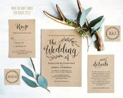 Wedding Invitation Set Templates Wedding Invitation Kits Etsy
