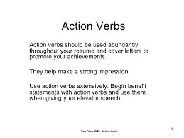 Action Verbs Resume The Best Resume