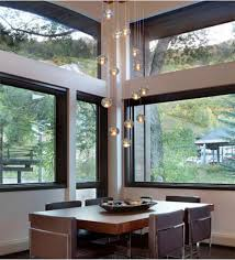 beauty home lighting decor with floating bubble chandelier floating bubble chandelier with wood dining table