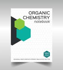 le organic chemistry notebook chemistry book design for college students book cover