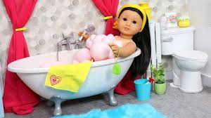 baby doll bathroom for american girl dolls play with dolls toy furniture take a bubble bath