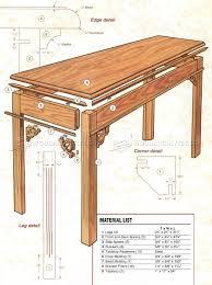 sofa table plans. Sofa Table Plans 3 Contemporary N