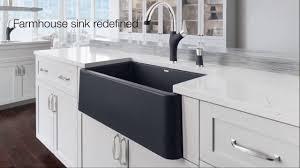 revolutionary farmhouse kitchen sink blanco ikon
