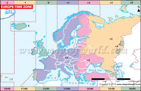 Intelligible Time Zones In Eu Map Of Time Zones Europe Time