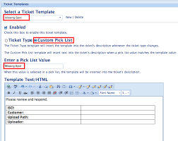 Show Ticket Template Ticket Templates Teamsupport Documentation