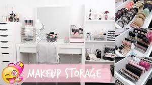 makeup storage organization for ikea alex drawers