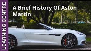 A Brief History Of Aston Martin Osv