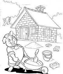 Baixe agora mesmo a foto rachado parede de tijolos com uma casa de desenho em cores. Casa De Tijolos 3 Porquinhos Desenhos Para Colorir