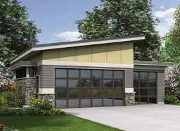 Shed Roof Home Plans Plan 69618am Contemporary Garage Plan Garage House Plans Glass