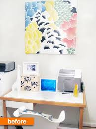 office wallpaper ideas. Before \u0026amp; After: Viv\u0027s Home Office Wallpaper Makeover | Apartment Therapy Ideas