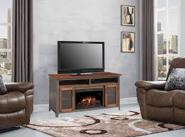 landis electric fireplace entertainment center in old world brown 26mm4964 c296