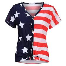 4th Of July Blouse For Women Jchen Ladies Vintage American