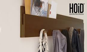 wall mounted shelf with hanging rods