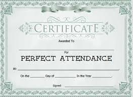 Attendance Award Template Download Attendance Award Certificate Template Download For