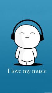 I Love My Music Cartoon iPhone 6 Plus ...