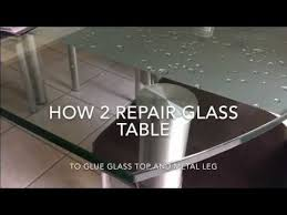 glass dinning table repair
