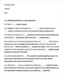 Simple Job Offer Letter Sample Faxnet1 Org