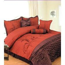 burnt orange bed sheets bedding and green sets image of queen sheet king