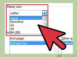 executive paper size how to print 8 5 x 5 5 13 steps with pictures wikihow