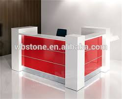 small office reception desk. cusomized white and red small office reception desk cash counter design for retail store