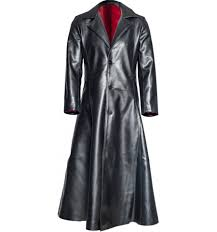 gothic vampire coat black and red