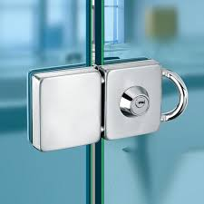 glass door lock double 304 stainless steel single open frameless hasps for 10 12 mm thickness