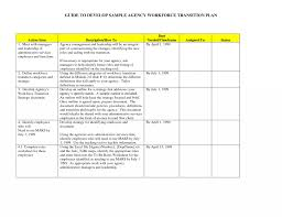 Project Management Transition Plan Mplate Large Size Of For