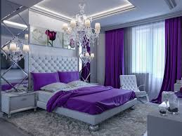 Elegant purple designed bedroom chandelier