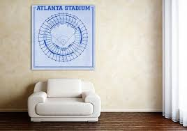 Print Of Vintage Fulton County Stadium Seating Chart On Photo Paper Matte Paper Or Canvas