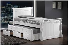 wooden pull out box bed design Captain Single Wood