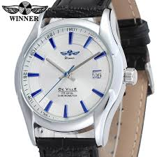 compare prices on watch company men online shopping buy low price wrg8050m3s2 winner new automatic men silver color dress watch factory company black leather strap shipping