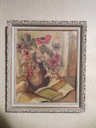 Priscilla Montgomery Mid Century Modernist Oil on Board Still Life Signed |  eBay
