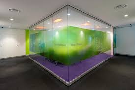 reed elsevier operable glass wall informal meeting area workstations office