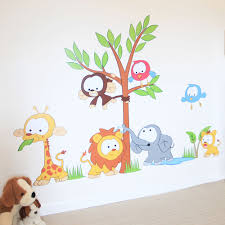 wall decor stickers for good jungle theme wall decor