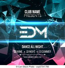 Modern Edm Music Party Template Dance Party Flyer Brochure Night Party Club Banner Poster