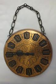 wall clock copper engraving chain