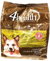 4health Tractor Supply Company Grain Free Adult Dog Food Chicken Vegetables Formula 4 Lb Bag
