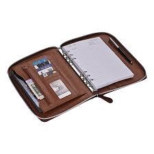 professional pu leather padfolio business portfolio holder organizer folder doent storage with writing pad 100 sheets