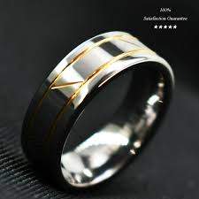 Tungsten Carbide Ring Size Chart Details About Silver Tungsten Carbide Ring Infinity 18k Gold Inlay Wedding Band Mens Jewelry