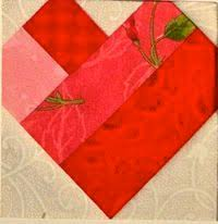 Scrappy hearts quilt squares - would be very cute