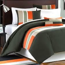 gray and orange comforter set mizone pipeline twin olive green free 8