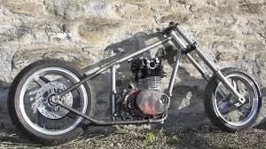 yamaha xs650 custom bobber hardtail chopper frame built in scotland uk